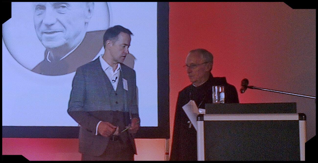 Abt Dr. Notker Wolf vor dem Vortrag